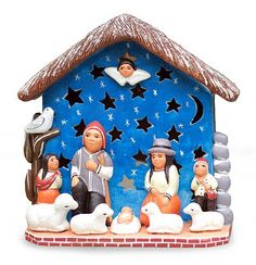 Joseph wears a chullo with warm earflaps and Mary wears an Andean hat in this charming nativity scene by Dionisio Rojas Gutiérrez. Crafted by hand, the creche sets the first Christmas in the Andean countryside.  | NOVICA