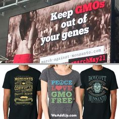 Thank you for your t-shirt purchases! Theyve funded among many other things this #MarchAgainstMonsanto billboard in Times Square! If youre in NYC look up above the Ripleys Building! Get your limited edition #MAM shirt now and help the movement grow! (wead