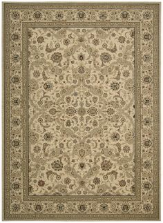 Kathy Ireland Lumiere Royal Countryside Beige Area Rug By Nourison KI600 BGE (Rectangle)