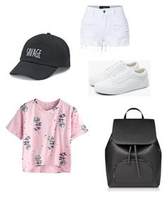 """""""Shopping"""" by baileereneholtz ❤ liked on Polyvore featuring SO, LE3NO and Vans"""