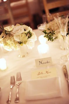 #place-settings  Photography:   Read More: http://www.stylemepretty.com/2010/03/04/winter-wedding-in-santa-barbara/