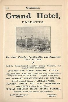 Colonial India, British Colonial, Poster Ads, Retro Posters, India Poster, Vintage India, Old Ads, Grand Hotel, India Travel