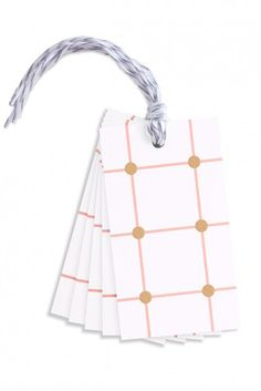 Studio Sarah London Spots and Stripes Gift Tags - White & Neon – Home Apparel