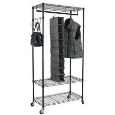Bed Bath And Beyond Garment Rack Interesting Bed Bath & Beyond Oceanstar Garment Rack With Adjustable Shelves And Design Decoration