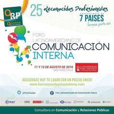 Te esperamos en #chile en el II @ForoCILatam #comunicacioninterna  #quintinarrpp Asegura tu lugar en http://ift.tt/2a40Ecg