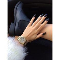 shoes black matte boots style fashion nails fur nail polish