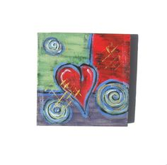 Valentine Gift Idea Acrylic Abstract Heart Painting by BrookeHowie, $45.00