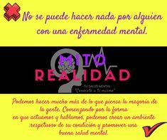 #MitosvsRealidad -Tu Salud Mental-