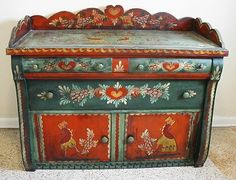 Peter Hunt painted cupboard - Wonderful Colors... I remember the people...