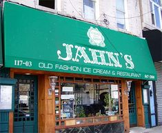 Jahns ice cream parlor Richmond Hill, Queens NY Home of the Kitchen Sink Ice Cream Sundae.. Serves 8 or more