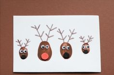 vorlage süße hirsche selber gemacht weihnachten niedlich
