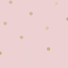 Dotty Wallpaper - Pink/Gold