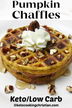 Keto Pumpkin Chaffles The popular classic Chaffle recipe gets a kick of pumpkin flavor in this easy to make breakfast! Keto Pumpkin Chaffles The popular classic Chaffle recipe gets a kick of pumpkin flavor in this easy to make breakfast! Easy To Make Breakfast, Low Carb Breakfast, Breakfast Ideas, Breakfast Cereal, Breakfast Recipes, Ketogenic Breakfast, Breakfast Casserole, Low Carb Desserts, Low Carb Recipes