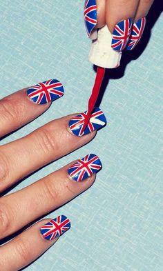 Union Jack Nails. Step three.