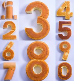Kuchen in Nummernform | Zahl z.B. für Kindergeburtstag oder Jubiläum | Make any number out of cake with these tips.