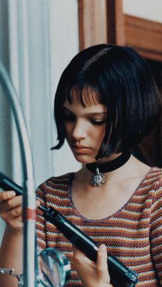 "Perfect French Bob; Natalie Portman plays Mathilda in the movie ""[Leon] The Professional"""