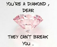 Don't give them the power to brake you! You are strong, just remember that!