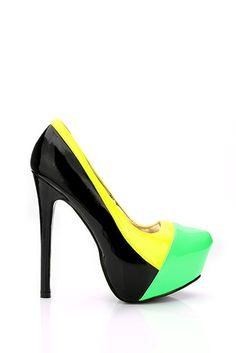 Multicolour Patent PVC Panels Shoes Pvc Panels, Pumps, Heels, Fashion, Heel, Moda, Fashion Styles, Pumps Heels, Pump Shoes