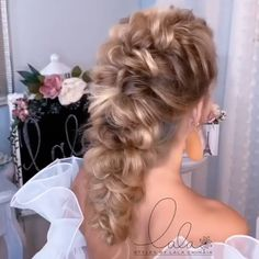 Short Hair Makeup, Hairdo For Long Hair, Blonde Hair Makeup, Long Hair Video, Easy Hairstyles For Long Hair, Braids For Short Hair, Elegant Hairstyles, Pretty Hairstyles, Braided Hairstyles