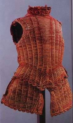 16th Century Brigandine (a cloth garment lined with small steel plates riveted to the fabric)