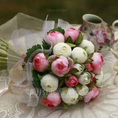 Pretty Round Satin Bridesmaid Bouquets (124032124)