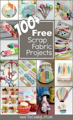 Scraps, Scraps, Scraps! Ever wonder what do you do with all of those little pieces of leftover fabric bits? Well today's post is going to help keep you inspired with over 100 easy scrap fabric project