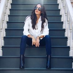 Get this look: http://lb.nu/look/7842914  More looks by Samira Radmehr: http://lb.nu/samiraradmehr  Items in this look:  Zara Booties, Levi's® Jeans, Zara Top   #levis #jeans #denim #girl #look #blog #blogger #fashion #style