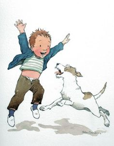 THE BOY AND HIS DOG  HELEN OXENBURY