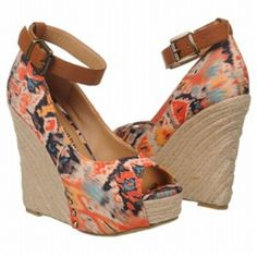 SALE - Chinese Laundry Dj Mix Wedge Heels Womens Orange Textile - Was $59.00 - SAVE $3.00. BUY Now - ONLY $56.05.