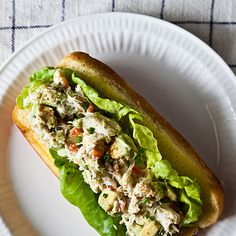 (Omit butter, serve over salad or sprouted bread...) Avocado Crab Rolls
