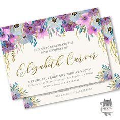 60th Birthday Invitations for women 60th birthday invitation