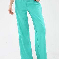 Foldover Linen Pants