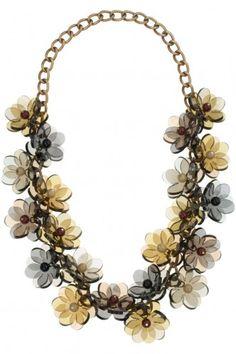 Tatty Devine Posie Garland Necklace - Dusk - £258