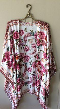 Image of Urban Outfitters cape sleeve beach boho kaftan kimono
