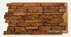 Faux stone wall panels and siding for interior and exterior designs, made of a high quality, natural looking material to attract the eye & endure for years. Fake Stone Wall, Faux Stone Wall Panels, Faux Panels, Brick And Stone, Stone Walls, Stone Work, Stone Wall Design, Victorian Porch, Artificial Stone