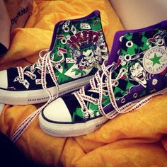 Twitter / MollieMonsterr: My new shoes I bought yesterday from #schuh #converse #batman #joker