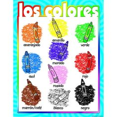 COLORS SPANISH CHART