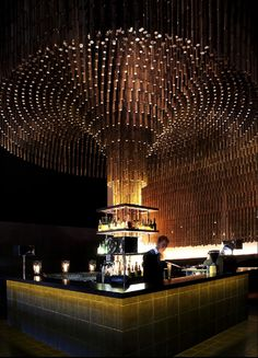 100 gems of remarkable design from the world's best, as defined by the Restaurant and Bar Design Awards. Bar Interior Design, Restaurant Interior Design, Cafe Design, Design Design, Lounge Bar, Lounge Design, Luxury Restaurant, Restaurant Ideas, Restaurant Lighting