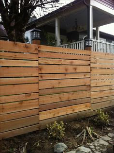 Horizontal fence with various size boards???