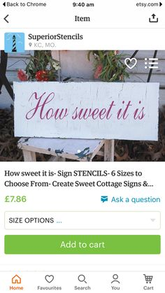 Sweet sign