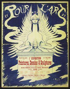 Jean Delville (Belgian, 1867-1953)  Pour l'Art poster, 1892