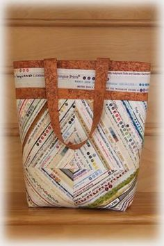 Selvedge Tote Bag via Craftsy
