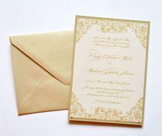 Gold and blush pink wedding invitation #wedding #gold #glam #weddinginvite #blushpink