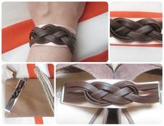 *Tadaam !: Bracelet cuir et satin