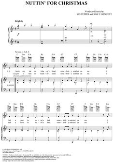 Nuttin' For Christmas Sheet Music Preview Page 1