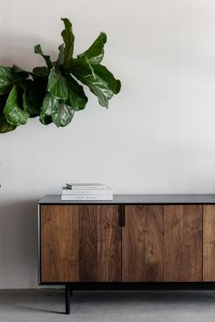 "80""W + 20""D + 28""H INDUSTRIAL STEEL + BIRCH + WALNUT POLY + OIL FINISH //CUSTOMIZE THIS PIECE The Kings Credenza by Croft House is handmade locally in Los Ang"