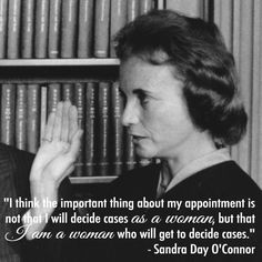 Supreme court justice Sandra Day O'Connor