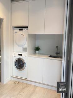custom laundry for a small space Laundry Cupboard, Laundry Room Baskets, Laundry Doors, Laundry Room Sink, Large Laundry Rooms, Laundry Dryer, Bunnings Laundry, Bi Folding Doors Kitchen, Laundry Room Design