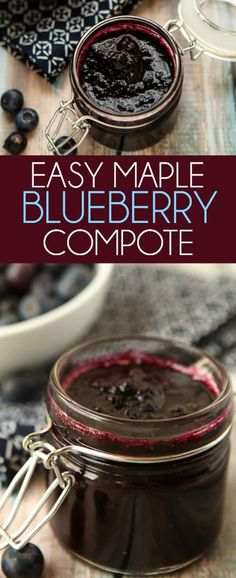 Added xanthum gum premixed with a tablespoon of maple syrup and tsp of oil to thicken. This maple blueberry sauce is the perfect topper for all of your breakfast recipes or even great for your favorite chicken or dessert recipes! I love how easy it is. Blueberry Compote, Fruit Compote, Blueberry Sauce, Blueberry Recipes, Jam Recipes, Canning Recipes, Dessert Recipes, Desserts, Healthy Recipes