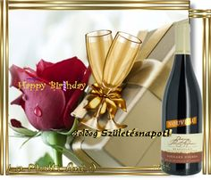 Happy birthday Birthday Name, Happy 2nd Birthday, Wine Bottle Images, Name Day, Tableware, Celebration, Dinnerware, Saint Name Day, Tablewares